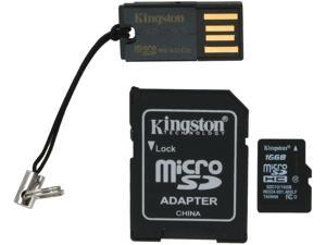 Kingston 16GB microSDHC Flash Card Multi-Kit/Mobility Kit Model MBLY10G2/16GB