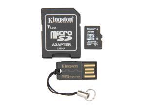 Kingston 32GB microSDHC Flash Card (Multi Kit / Mobility Kit) Model MBLY10G2/32GB