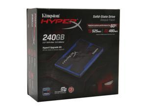 "Kingston HyperX SH100S3B/240G 2.5"" 240GB SATA III MLC Internal Solid State Drive (SSD) (HyperX Upgrade Kit)"