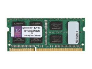 Kingston 4GB 204-Pin DDR3 SO-DIMM DDR3 1333 Laptop Memory Model KVR1333D3S9/4GKC