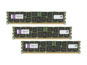 Kingston 24GB (3 x 8GB) 240-Pin DDR3 SDRAM Server Memory QR, x8 w/Therm Sen Model KVR1066D3Q8R7SK3/24G
