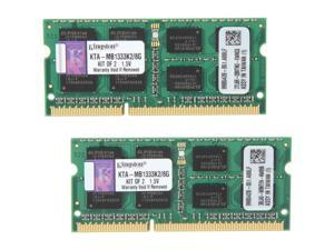 Kingston 8GB (2 x 4GB) 204-Pin DDR3 SO-DIMM DDR3 1333 Mac Memory Model KTA-MB1333K2/8G