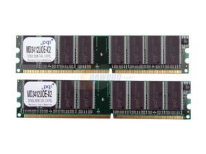 PQI 512MB (2 x 256MB) 184-Pin DDR SDRAM DDR 333 (PC 2700) Dual Channel Kit Desktop Memory