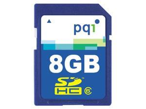 PQI 8GB Secure Digital High-Capacity (SDHC) Flash Card Model AE87-8030R5507