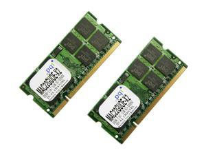 PQI 2GB (2 x 1GB) 200-Pin DDR2 SO-DIMM DDR2 667 (PC2 5400) Dual Channel Kit Laptop Memory Model MAC22GUOE-X2