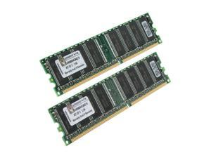 Kingston ValueRAM 1GB (2 x 512MB) 184-Pin DDR SDRAM DDR 400 (PC 3200) Dual Channel Kit System Memory Model KVR400X64C3AK2/1G