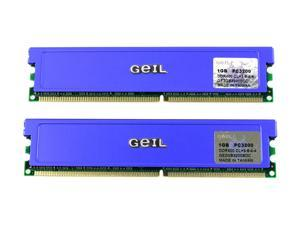 GeIL Value 2GB (2 x 1GB) 184-Pin DDR SDRAM DDR 400 (PC 3200) Dual Channel Kit Desktop Memory Model GE2GB3200BDC
