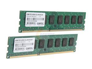 GeIL Green 4GB (2 x 2GB) 240-Pin DDR3 SDRAM DDR3 1066 (PC3 8500) Desktop Memory Model GG34GB1066C8DC