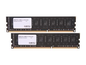 GeIL Black Dragon 8GB (2 x 4GB) 240-Pin DDR3 SDRAM DDR3 1333 (PC3 10666) Desktop Memory Model GB38GB1333C9DC