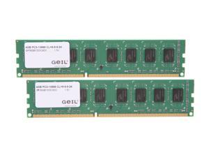 GeIL Pristine 8GB (2 x 4GB) 240-Pin DDR3 SDRAM DDR3 1333 (PC3 10666) Desktop Memory Model GP38GB1333C9DC