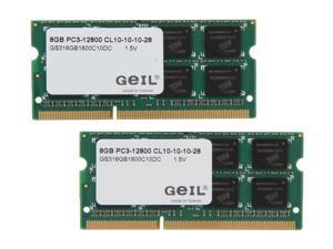 GeIL 16GB (2 x 8G) 204-Pin DDR3 SO-DIMM DDR3 1600 (PC3 12800) Laptop Memory Model GS316GB1600C10DC
