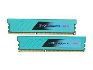 GeIL EVO Leggara Series 16GB (2 x 8GB) 240-Pin DDR3 SDRAM DDR3 1333 (PC3 10666) Desktop Memory Model GEL316GB1333C9DC