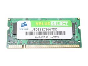 CORSAIR ValueSelect 512MB SO-DIMM DDR2 667 (PC2 5300) Laptop Memory