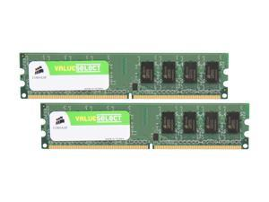 CORSAIR 2GB (2 x 1GB) 240-Pin DDR2 SDRAM DDR2 667 (PC2 5300) Desktop Memory Model VS2GBKIT667D2