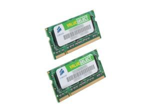 CORSAIR 2GB (2 x 1GB) 200-Pin Dual Channel Kit Laptop Memory