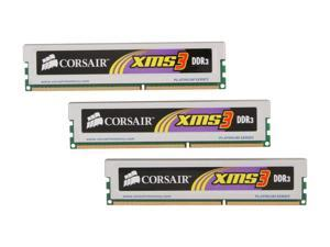 CORSAIR XMS3 6GB (3 x 2GB) 240-Pin DDR3 SDRAM DDR3 1600 (PC3 12800) Triple Channel Kit Desktop Memory