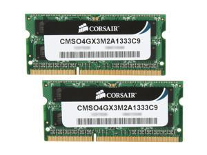 CORSAIR ValueSelect 4GB (2 x 2GB) 204-Pin DDR3 SO-DIMM DDR3 1333 (PC3 10600) Laptop Memory Model CMSO4GX3M2A1333C9