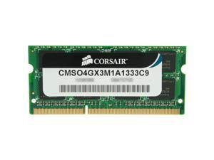 CORSAIR ValueSelect 4GB 204-Pin DDR3 SO-DIMM DDR3 1333 (PC3 10600) Laptop Memory Model CMSO4GX3M1A1333C9