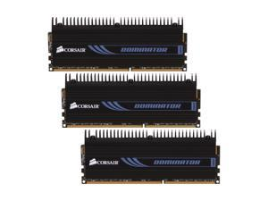 CORSAIR DOMINATOR 6GB (3 x 2GB) 240-Pin DDR3 SDRAM DDR3 1600 (PC3 12800) Desktop Memory Model CMP6GX3M3A1600C8