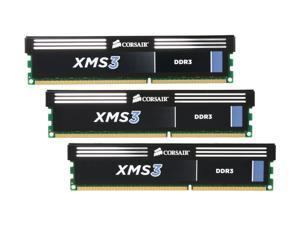 CORSAIR XMS3 12GB (3 x 4GB) 240-Pin DDR3 SDRAM DDR3 2000 (PC3 16000) Desktop Memory