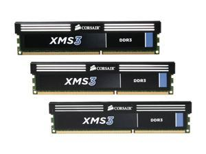 CORSAIR XMS3 12GB (3 x 4GB) 240-Pin DDR3 SDRAM DDR3 1333 Desktop Memory Model CMX12GX3M3A1333C9