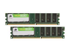 CORSAIR 1GB (2 x 512MB) 184-Pin DDR SDRAM DDR 400 (PC 3200) Dual Channel Kit Desktop Memory Model VS1GBKIT400