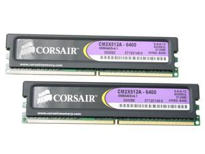 CORSAIR XMS2 1GB (2 x 512MB) 240-Pin DDR2 SDRAM DDR2 800 (PC2 6400) Dual Channel Kit Desktop Memory Model TWIN2X1024A-6400