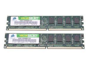 CORSAIR 1GB (2 x 512MB) 240-Pin DDR2 667 (PC2 5300) Desktop Memory