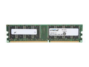 Crucial 1GB 184-Pin DDR SDRAM DDR 400 (PC 3200) Desktop Memory Model CT12864Z40B - OEM