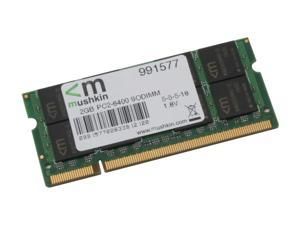 Mushkin Enhanced Essentials 2GB 200-Pin DDR2 SO-DIMM DDR2 800 (PC2 6400) Laptop Memory Model 991577