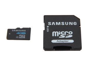 SAMSUNG 4GB microSDHC Flash Card Model MB-MS4GA/US
