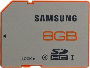 SAMSUNG Plus 8GB Secure Digital High-Capacity (SDHC) Flash Card Model MB-SP8GB/AM