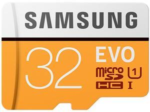 Samsung 32GB EVO UHS-I/U1 Memory Card with SD Adapter, Speed Up to 95MB/s (MB-MP32GA/AM)