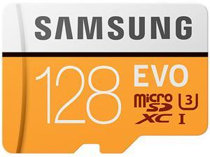 Samsung 128GB EVO UHS-I/U3 Memory Card with SD Adapter, Speed Up to 100MB/s (MB-MP128GA/AM)