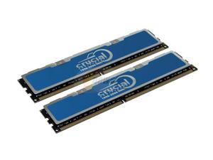 Crucial 2GB (2 x 1GB) 240-Pin DDR2 SDRAM DDR2 667 (PC2 5300) Dual Channel Kit Desktop Memory Model TY2KIT12864AA663