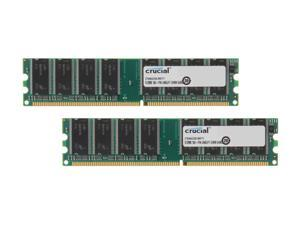 Crucial 1GB (2 x 512MB) 184-Pin DDR SDRAM DDR 333 (PC 2700) Dual Channel Kit Desktop Memory Model CT2KIT6464Z335
