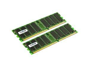 Crucial 4GB (2 x 2GB) 184-Pin DDR SDRAM Dual Channel Kit Server Memory Model CT2KIT25672Y40B