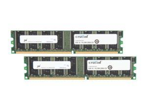 Crucial 512MB (2 x 256MB) 184-Pin DDR SDRAM DDR 333 (PC 2700) Dual Channel Kit Desktop Memory Model CT2KIT3264Z335