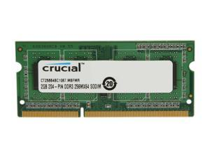 Crucial 2GB 204-Pin DDR3 SO-DIMM DDR3 1066 (PC3 8500) Laptop Memory Model CT25664BC1067