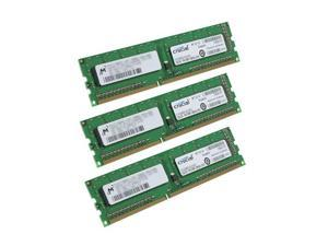 Crucial 3GB (3 x 1GB) 240-Pin DDR3 SDRAM DDR3 1333 (PC3 10600) Triple Channel Kit Desktop Memory Model CT3KIT12864BA1339