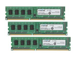 Crucial 6GB (3 x 2GB) 240-Pin DDR3 SDRAM DDR3 1066 (PC3 8500) Triple Channel Kit Desktop Memory Model CT3KIT25664BA1067