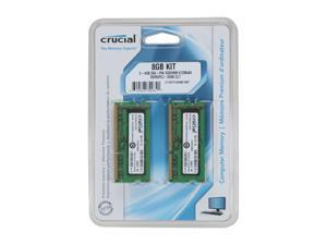 Crucial 8GB (2 x 4GB) 204-Pin DDR3 SO-DIMM DDR3 1066 (PC3 8500) Laptop Memory Model CT2KIT51264BC1067