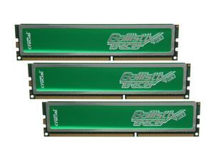 Crucial Ballistix Tracer 6GB (3 x 2GB) 240-Pin DDR3 SDRAM DDR3 1333 (PC3 10600) Desktop Memory w/ Green LEDs Model BL3KIT25664TG1337