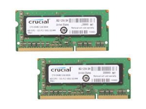 Crucial 8GB (2 x 4GB) 204-Pin DDR3 SO-DIMM DDR3 1333 (PC3 10600) Laptop Memory