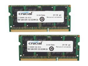 Crucial 16GB (2 x 8G) 204-Pin DDR3 SO-DIMM DDR3L 1333 (PC3L 10600) Laptop Memory Model CT2KIT102464BF1339