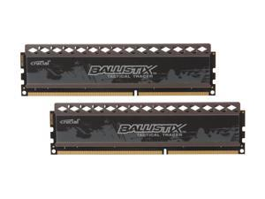 Crucial Ballistix Tactical Tracer 4GB (2 x 2GB) 240-Pin DDR3 SDRAM DDR3 1600 (PC3 12800) Desktop Memory (with Red/Green Light)