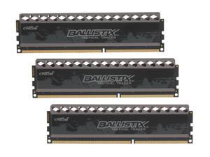 Crucial Ballistix Tactical Tracer 12GB (3 x 4GB) 240-Pin DDR3 SDRAM DDR3 1600 (PC3 12800) Desktop Memory (with Orange/Blue ...