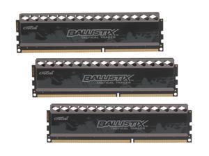 Crucial Ballistix Tactical Tracer 12GB (3 x 4GB) 240-Pin DDR3 SDRAM DDR3 1600 (PC3 12800) Desktop Memory (with Orange/Blue ...
