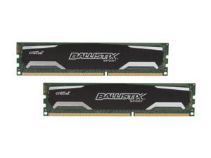 Crucial Ballistix Sport 4GB (2 x 2GB) 240-Pin DDR3 SDRAM DDR3 1333 (PC3 10600) Desktop Memory Model BLS2KIT2G3D1339DS1S00