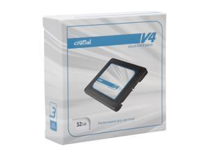 "Crucial V4 CT032V4SSD2CCA 2.5"" 32GB SATA II MLC Internal Solid State Drive (SSD) with Easy Laptop Install Kit"